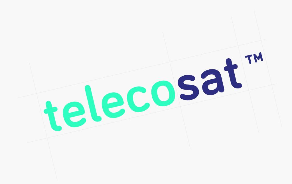 Diseño del logotipo para Telecosat. Disseny del logotip per a Telecosat.