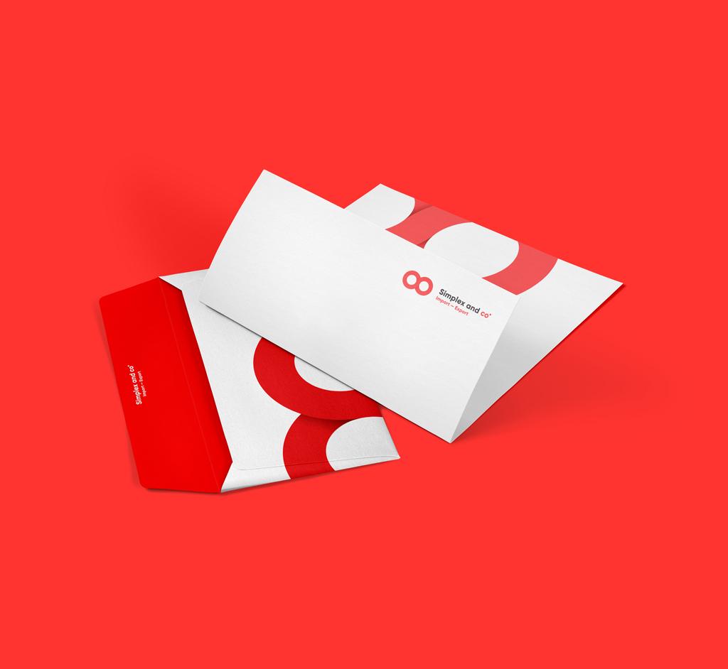 Diseño de sobres para la empresa Simplex and Co. Disseny de sobres per a la empresa Simplex and Co.