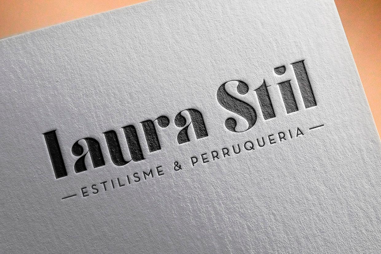 Diseño del logotipo para Laura Stil Lleida. Disseny del logotip per a Laura Stil Lleida.