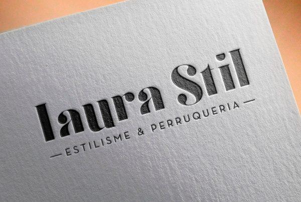 Logotipo completo para Laura Stil Lleida. Logotip complet per a Laura Stil Lleida.