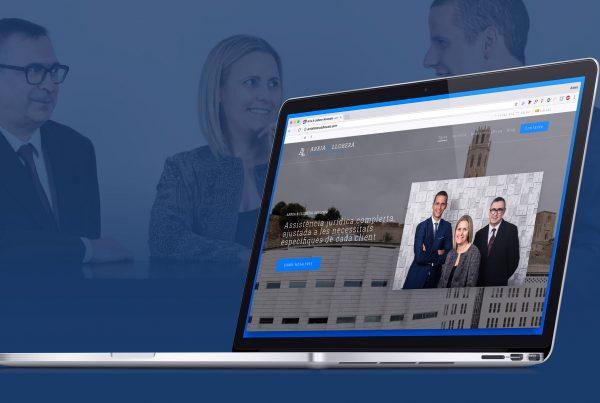 Diseño página web versión desktop para Arria Llobera Advocats Lleida. Disseny pàgina web desktop per a Arria Llobera advocats lleida.