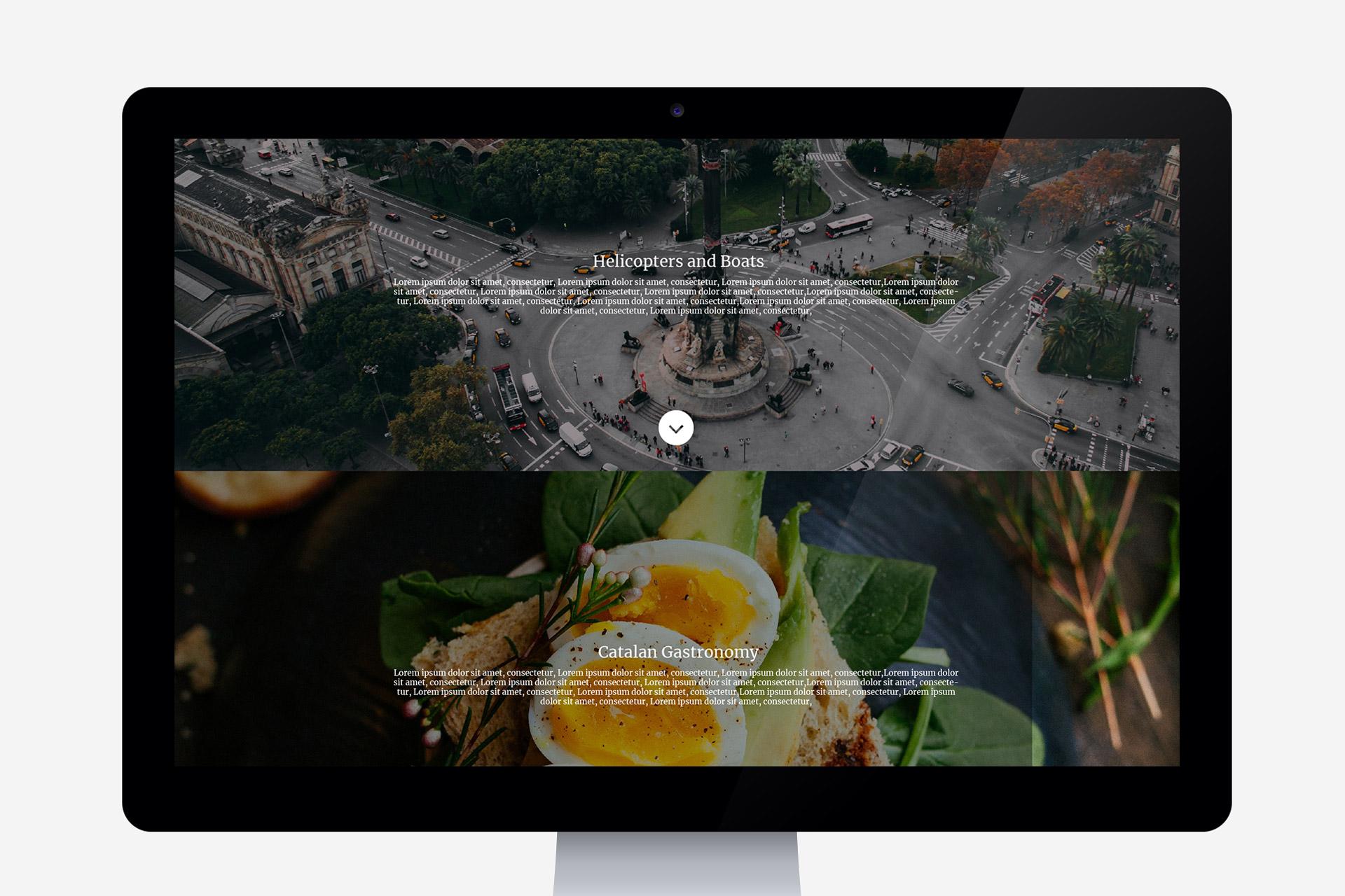 Diseño web para la empresa de viajes munditravel Barcelona. Disseny web per a l'empresa munditravel Barcelona.