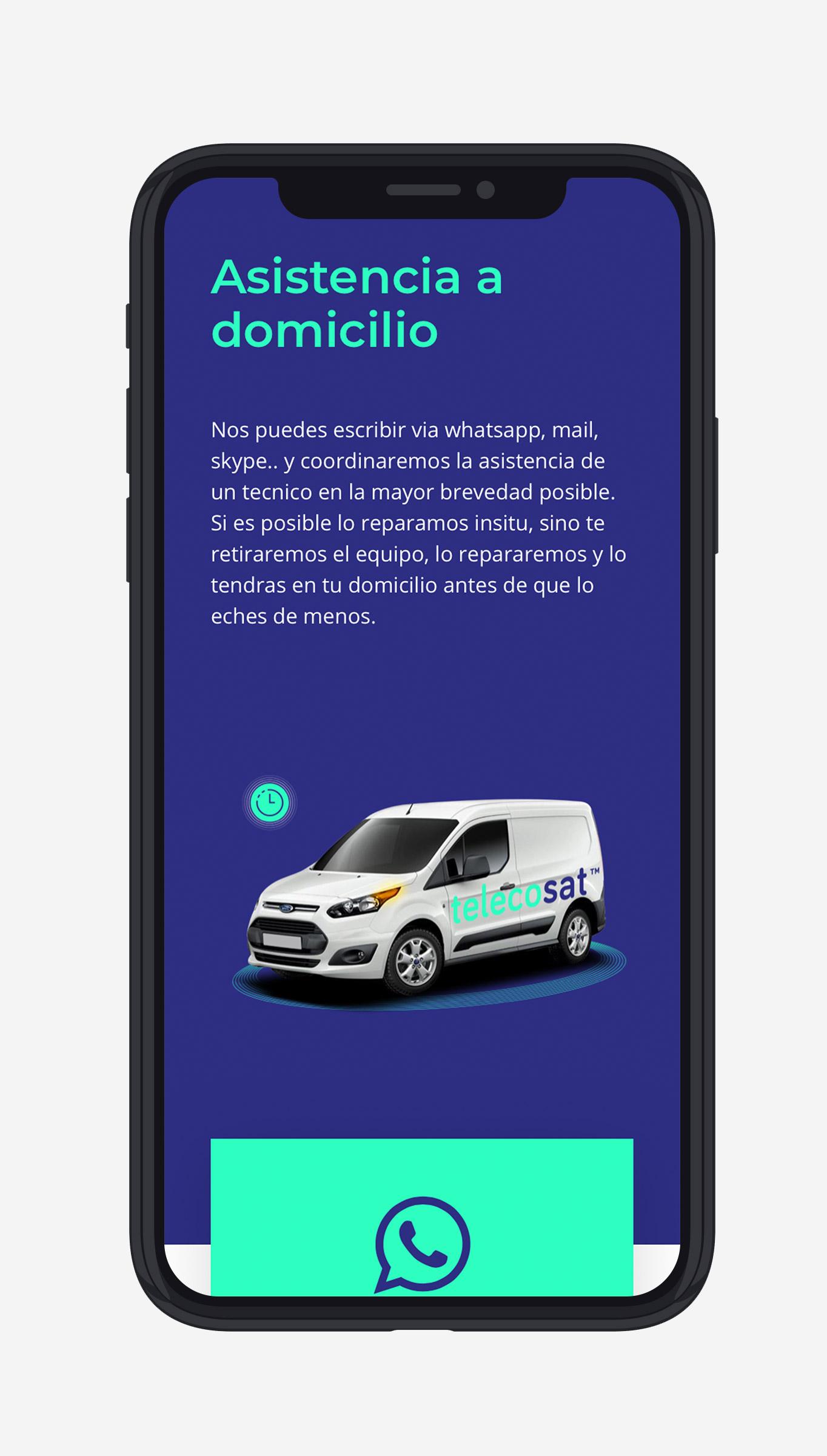 disseny gràfic i web per a Telecosat realitzat per Crits Gràfics Lleida
