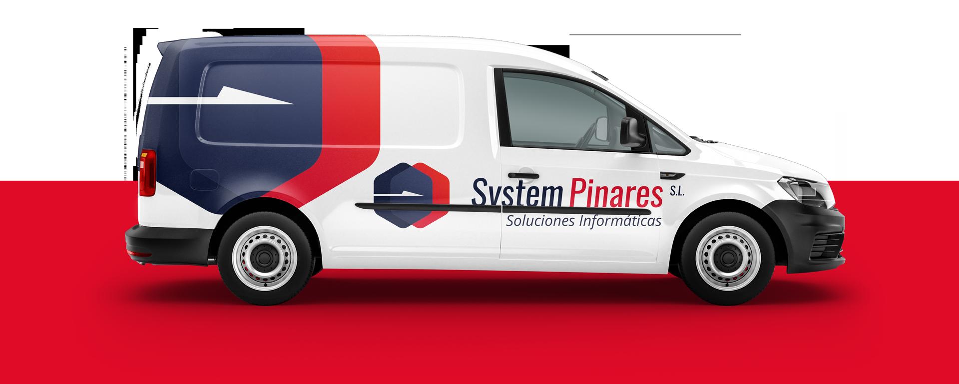 Vinil per a la furgoneta de System Pinares Soria. Disseny de Crits Gràfics Lleida.